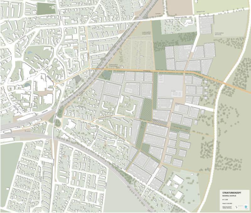 Strukturplan Vorzugsvariante Buchholz2025plus